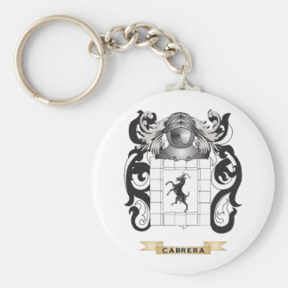 Cabrera Coat of Arms Family Crest Keychains