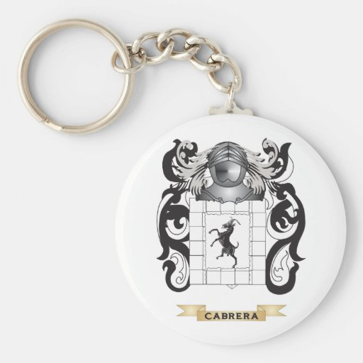 Cabrera Coat of Arms (Family Crest) Basic Round Button Keychain