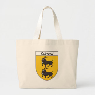 Cabrera Coat of Arms/Family Crest Large Tote Bag