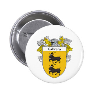 Cabrera Coat of Arms/Family Crest (Mantled) Button