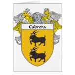 Cabrera Coat of Arms/Family Crest (Mantled) Card