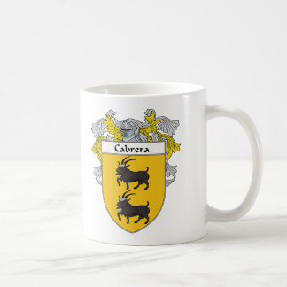 Cabrera Coat of Arms/Family Crest (Mantled) Coffee Mug