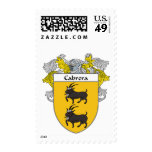 Cabrera Coat of Arms/Family Crest (Mantled) Postage Stamps