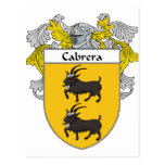 Cabrera Coat of Arms/Family Crest (Mantled) Post Card
