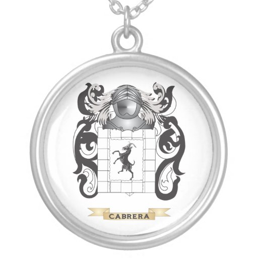 Cabrera Coat of Arms (Family Crest) Custom Necklace