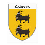 Cabrera Coat of Arms/Family Crest Post Card