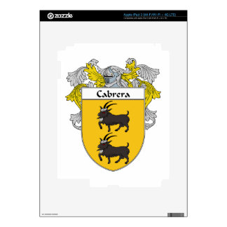 Cabrera Coat of Arms/Family Crest iPad 3 Skins
