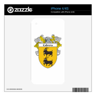Cabrera Coat of Arms/Family Crest Skins For The iPhone 4S