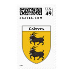Cabrera Coat of Arms/Family Crest Stamp