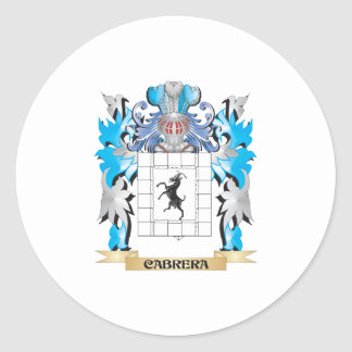 Cabrera Coat of Arms - Family Crest Sticker