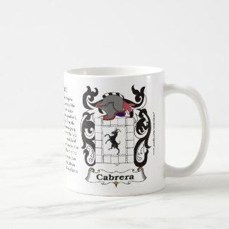 Cabrera Family Coat of Arms Mug
