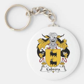 Cabrera Family Crest Basic Round Button Keychain