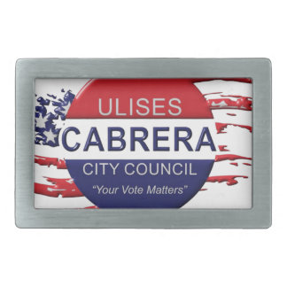 Cabrera for City Council Belt Buckle