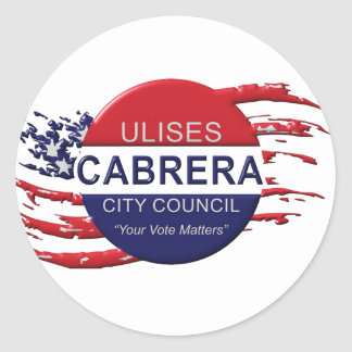 Cabrera for City Council Classic Round Sticker