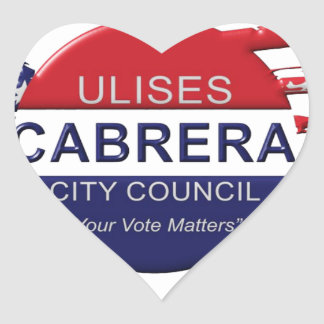 Cabrera for City Council Heart Sticker