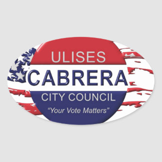 Cabrera for City Council Oval Sticker