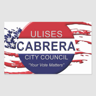 Cabrera for City Council Rectangular Sticker