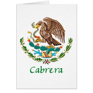 Cabrera Mexican National Seal Card