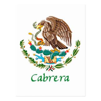 Cabrera Mexican National Seal Postcard