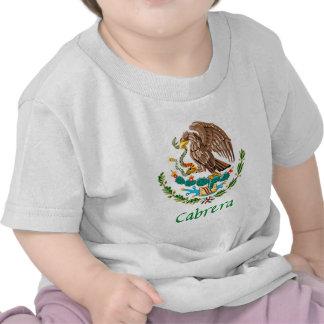 Cabrera Mexican National Seal T Shirts