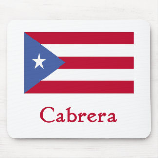 Cabrera Puerto Rican Flag Mouse Pads