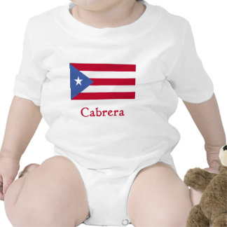Cabrera Puerto Rican Flag Tee Shirt