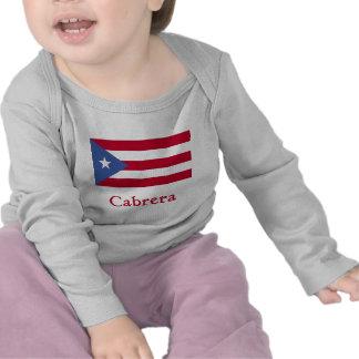 Cabrera Puerto Rican Flag T Shirt