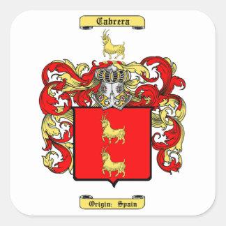 Cabrera Square Sticker