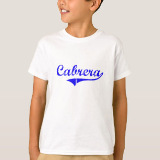 Cabrera Surname Classic Style T-Shirt