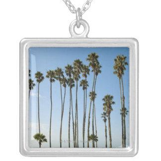 Cabrillo Avenue, Santa Barbara, California Silver Plated Necklace