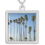 Cabrillo Avenue, Santa Barbara, California Square Pendant Necklace