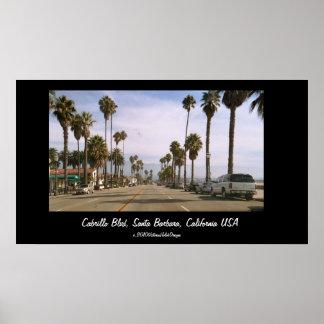 """Cabrillo Blvd, Santa Barbara, California USA"" Poster"