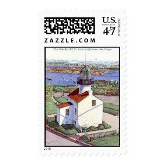 Cabrillo lighthouuse unl JPEC, The Cabrillo Old... Postage Stamp