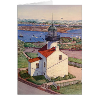 CABRILLO OLD PT. LOMA LIGHTHOUSE GREETING CARD