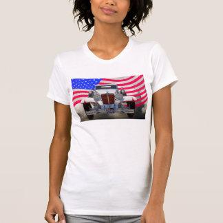 Cabriolé de 1929 cordones 6-29 y bandera americana t shirt