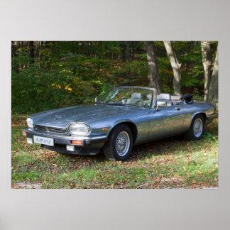 Cabriolé de Jaguar XJS V12 Poster