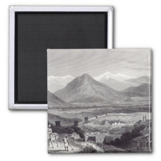 Cabul from the Bala Hissar 2 Inch Square Magnet