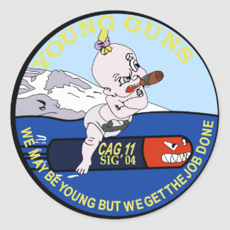 CAC-11 Young Guns Patch Classic Round Sticker