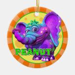 """Cacahuete de """"GiggleBellies"""" el ornamento del elef Ornamentos De Reyes Magos"""