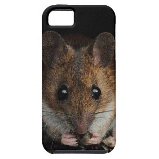 Cacahuete el ratón de madera iPhone 5 funda