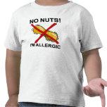 Cacahuete NINGUNAS nueces soy alérgico Camiseta