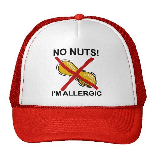 Cacahuete NINGUNAS nueces soy alérgico Gorro