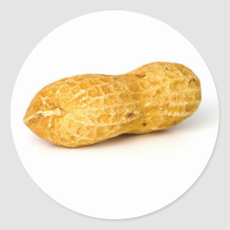 Cacahuete Pegatina Redonda