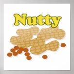 Cacahuetes de nuez poster