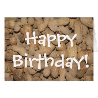 ¡Cacahuetes del NC, feliz cumpleaños! Tarjeta De Felicitación