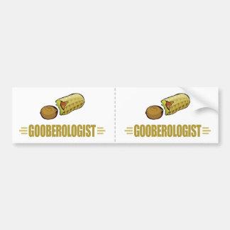 Cacahuetes divertidos etiqueta de parachoque