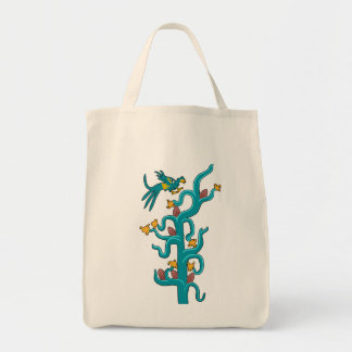 Cacao and Quetzal Canvas Bags