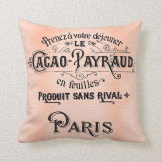 Cacao antiguo francés bonito de la almohada del