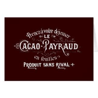 Cacao - anuncio de Payraud Tarjeta Pequeña