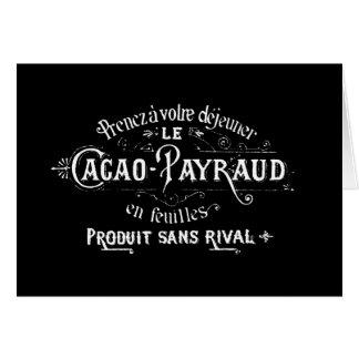 Cacao - anuncio de Payraud Tarjeta De Felicitación